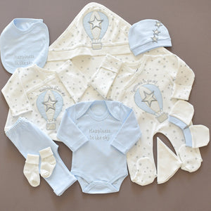 10 Piece Newborn Baby Set - Happiness in the Sky - Tianoor