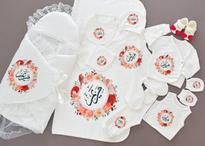 Flowers Frame 12 Piece Newborn Set - Tianoor
