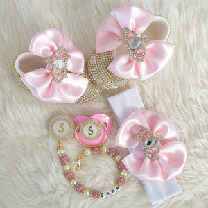 Swarovski Crystal Baby Shoes Gift Set - Tianoor