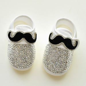 Gentleman's Mustache Baby Boy Shoes - Tianoor