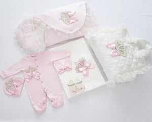 Welcome Home Newborn Baby Girl Set