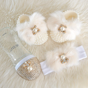 Swarovski Bear Baby Shoes Gift Set - Tianoor