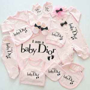 Baby Dior Inspired Newborn Baby Set Wholesale