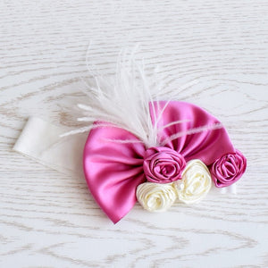 Big Pink Bow Headband - Tianoor