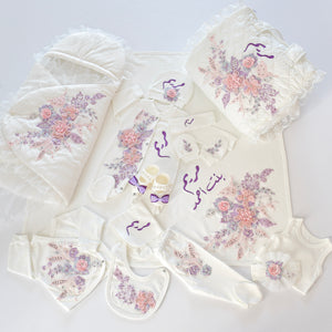 Welcome Home Newborn Baby Girl Lace Set - Tianoor