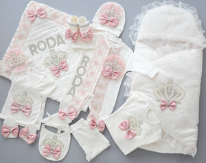 Welcome Home Newborn Baby Girl 12 Piece Set - Tianoor