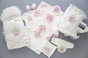 13 Pieces Welcome Home Newborn Baby Girl Set - Tianoor
