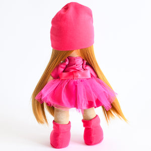 Bebe Doll in Hot  Pink Dress