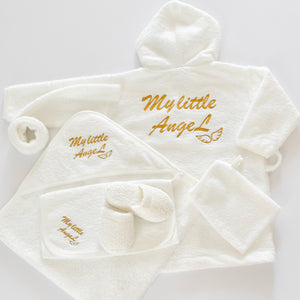 My little Angel Baby Bathrobe Set - Tianoor