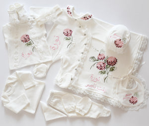 10 Piece Embroidered Newborn Girl Set