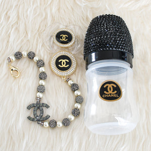 Chanel Inspired Swarovski Baby Gift Set - Tianoor