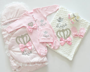 Welcome Home Newborn Baby Set with Baby Name