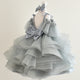 Silver Glam Couture Dress - Tianoor