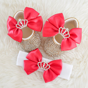 The Queen Swarovski Baby Girl Shoes - Tianoor