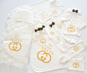My First Gucci Inspired Newborn Baby Set - Tianoor