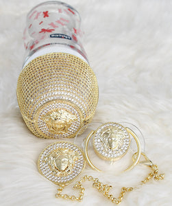 Versace Inspired Feeding Bottle and Pacifier Baby Gift Set