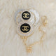 Chanel Inspired Baby Pacifier and Clip