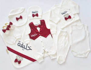 Personalised 10 Piece Newborn baby Boy Set - Tianoor