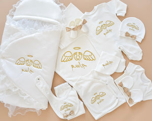 Baby Feet with Angel Wings Embroidery Set - Tianoor