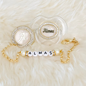 Personalised Baby Name Pacifier & Clip - Tianoor