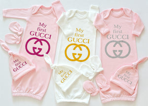 My First Gucci Inspired Baby Gown - Tianoor