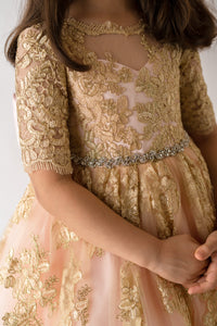 THE GOLD LACE DRESS - Tianoor