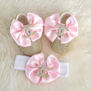 Chanel Inspired Swarovski Baby Shoes - Tianoor