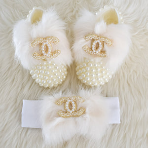 CHANEL Inspired Baby Shoes - Tianoor