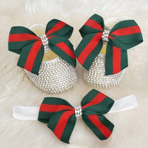 Gucci Inspired Crystal Baby Shoes