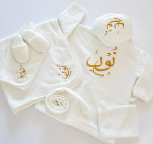 Personalised Baby Girl Bathrobe Set - Tianoor