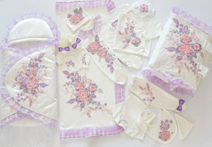 Baby Coming Home 3D Flower Lace Complete Set - Tianoor