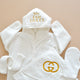 My First Gucci Baby Hooded Bathrobe Set