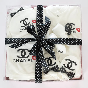 Chanel Inspired Newborn Baby Set - Tianoor