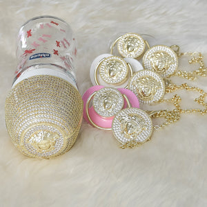 Versace Inspired Feeding Bottle and Pacifier Baby Gift Set - Tianoor