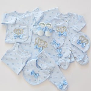 10 Piece Prince Newborn Baby Boy Set - Tianoor