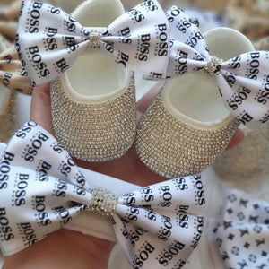 Glam Swarovski Crystal Baby Shoes - Tianoor