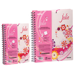 Mintra Jolie A5 2 Subject 100 Pages Spiral Notebook