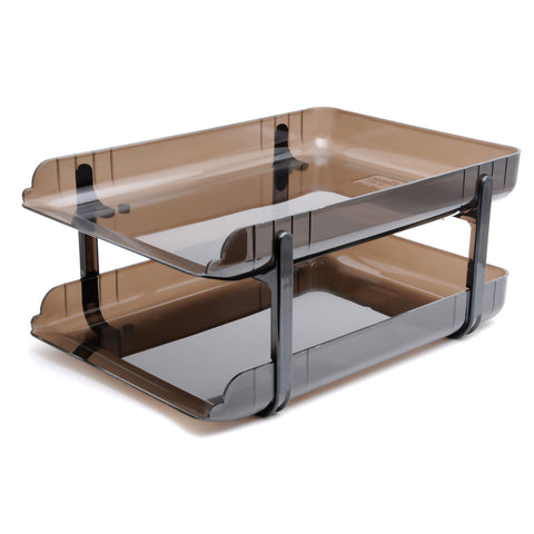 Elsoon Transparent Plastic Desk Tray