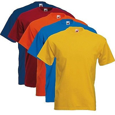 5 pack of Fruit of the Loom Super Premium T Shirts-Size Large (Colour set 1) - Tshirt-printing4u.com