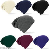 Beechfield Oversized Baggy Knitted Slouch Beanie Winter Hat - Mens - Ladies - Tshirt-printing4u.com