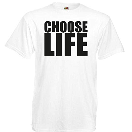 CHOOSE LIFE MENS WHITE FRUIT OF THE LOOM SIZE 3XL - Tshirt-printing4u.com