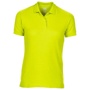 75800L DryBlend® Ladies' Double Piqué Polo Safety Green Large 12-14 - Tshirt-printing4u.com