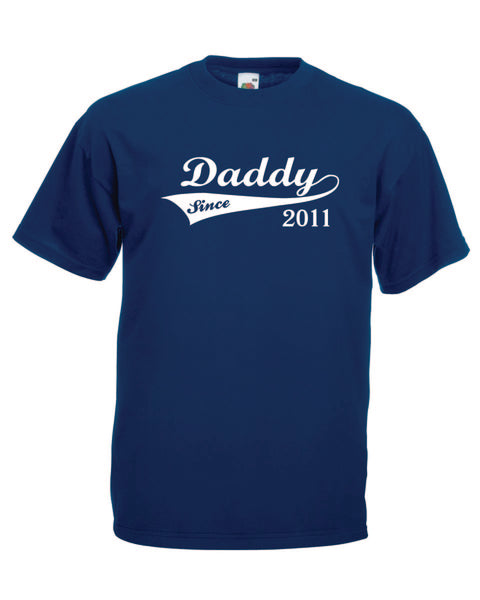 Daddy since 2011  Navy Size medium - Tshirt-printing4u.com
