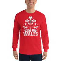 Come on Wales Mens, Wales rugby shirt 2019 world cup Long Sleeve T-Shirt - Tshirt-printing4u.com