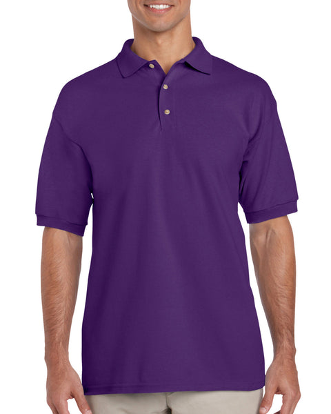 Gildan Ultra cotton mens polo purple size X-large - Tshirt-printing4u.com