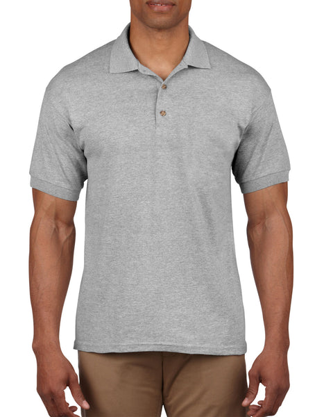 3800 Ultra Cotton™ Adult Piqué Polo Small chest size 36-38 Sport grey - Tshirt-printing4u.com