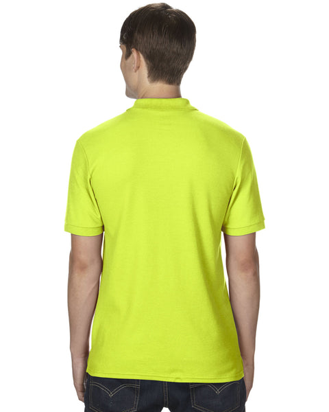 Gildan Dryblend mens polo safety green Size Large - Tshirt-printing4u.com