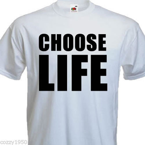 Choose Life  White Size X-large - Tshirt-printing4u.com