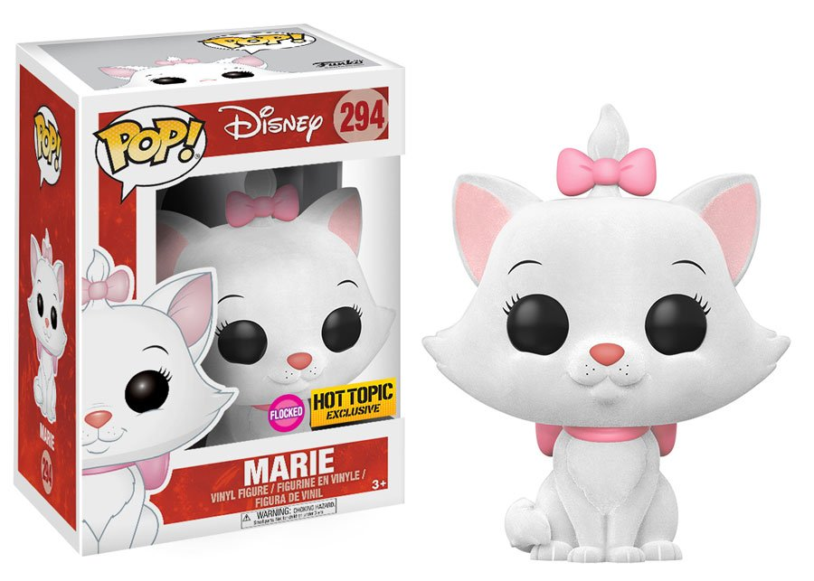 Funko POP! Disney - Disney Serie 10 - The Aristocats - Vinyl Figure Marie (Flocked) (Exclusive) (294)