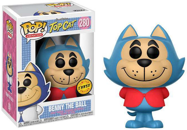 Funko POP! Animation - Top Cat - Vinyl Figure Benny The Ball (280) CHASE